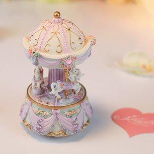 JinRou casa moderna decorazione sfera di cristallo Music Box Creative regalo di compleanno nozze forniture ,viola