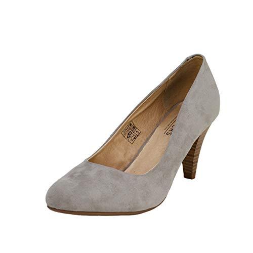 Fitters Footwear That Fits Princess Microfibre Damen Pump Pumps mit bequemen Lederfutter (43 EU, grau)