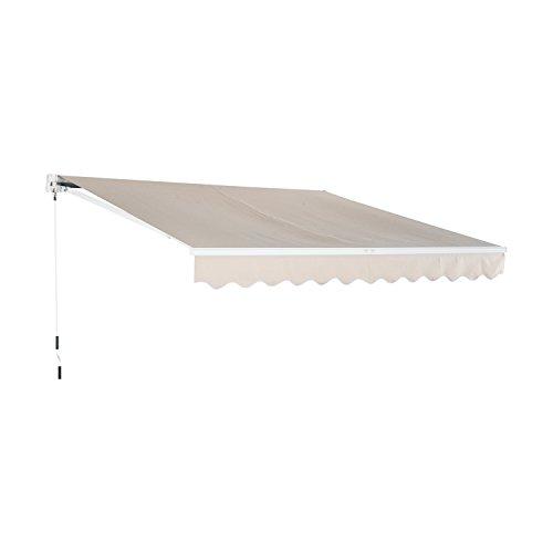 Outsunny - tenda da sole avvolgibile da esterno impermeabile in poliestere 3×2,5m
