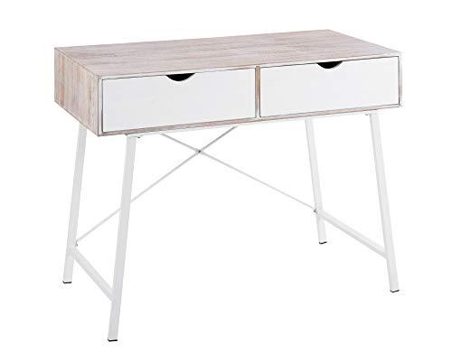 ts-ideen Landhaus Konsolentisch Anrichte Sekretär Schreibtisch Tisch Kommode Schminktisch Frisiertisch Shabby Vintage 77 x 97 cm