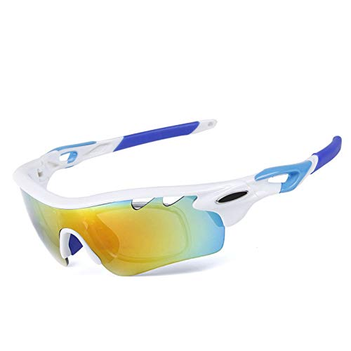 Gnzoe PC Polarisierte Fahrradbrille Abnehmbar (Cocker Myopie Brille) Outdoor Schutz Brille...