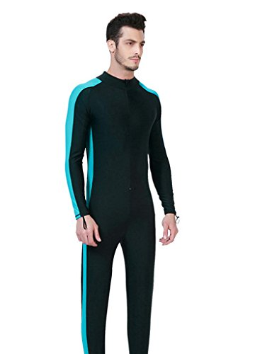 OUO Herren Himmelblau 2XL UV-Anzug UPF>50 Schutz swetsuit Schwimmanzug Overall Watersport