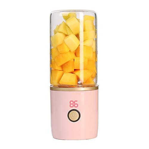 ZMDHL Entsafter, Vitamin Juice Cup UV-Desinfektion Tragbarer Mini Juicer USB-Ladegerät für elektrische Saftschale,Pink,Glass