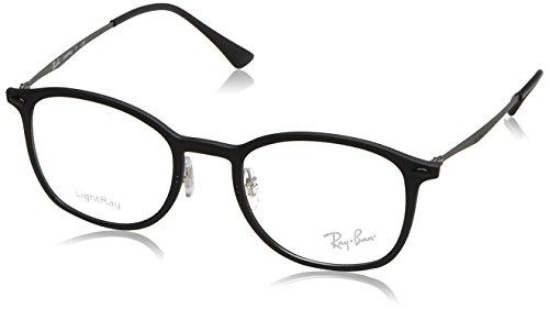 Ray-Ban Unisex-Erwachsene Brillengestell 0rx 7051 2077 49, Schwarz (Matte Black)