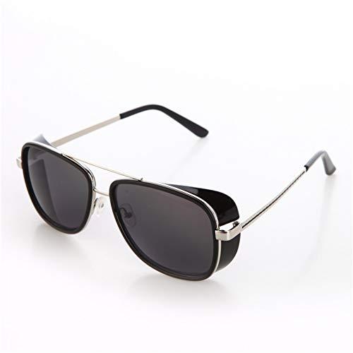 CCGKWW Mode Männlich Steampunk Sonnenbrille Männer Retro Vintage Designer Sonnenbrille Oculos Masculino Gafas