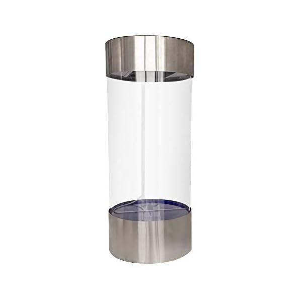 Pet's House Stainless Steel Acrylic Column Cylinder Aquarium Fish Tank