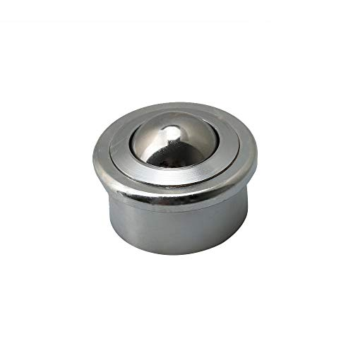 Yibuy High Load Transfer Bearings Heavy Duty gefräster Stahl Durchmesser 25 mm Rollen - Load-transfer