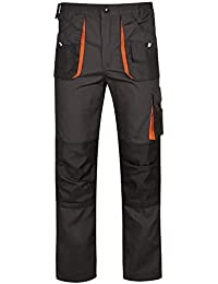 Gris Oscuro//Negro//Naranja Resistente DINOZAVR Atlas Chaqueta de Trabajo Multiusos para Hombre