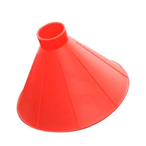 Rascador de hielo multifunción para coche, con forma de cono de limpiaparabrisas para el aire libre, herramienta mágica para quitar nieve, herramienta de coche, rojo