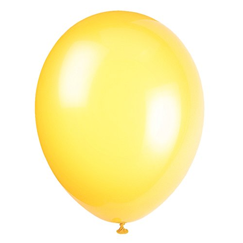 Unique Party Globos de Fiesta de Látex, 50 Unidades Color ((lemon yellow) pack of 50 56844