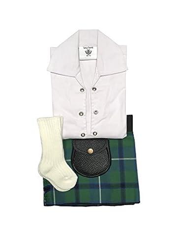 Douglas Ancient Tartan bébé réglable Tenue écossaise, tuyau, Bourse 0–24mois