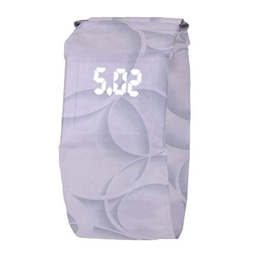 Oyamihin Kreative Papieruhr LED Wasserdichte und verschleißfeste elektronische Uhr - Circle White