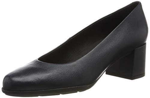 Geox D New ANNYA Mid A, Zapatos con Tacón para Mujer, Azul Navy C4002, 41 EU