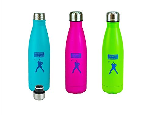 ELI&YANI 500 ml vakuumisolierte Reise-Trinkflasche/Kaffeetasse, isoliert, mit Tasche, auslaufsicher, doppelwandig, Edelstahl, Cola-Form, Sport-Wasserflasche für Reisen von isoliert, Rose