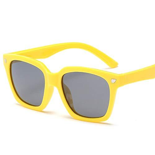 L.Z.H.Brillen Gläser Kinder Flexible Gummi Sonnenbrillen-UV-Schutz und polarisierte Linsen für Kinder, Kleinkinder, Jungen und Mädchen (Color : Gelb, Size : Kostenlos)