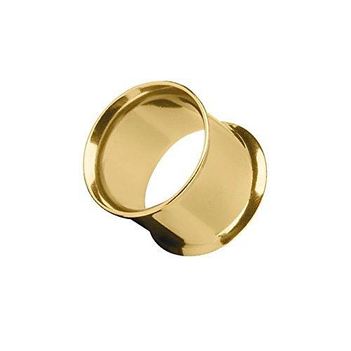 Piercingfaktor Flesh Tunnel Ear Plug Ohr Piercing Tribal Double Flared Plug aus Edelstahl 16mm Gold