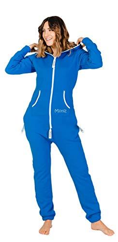 Moniz Damen Jumpsuit, royal blau, Größe M - 2 Stück Fleece-schlafanzug