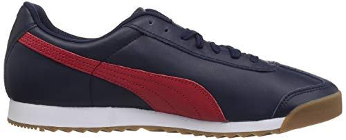 PUMA Men s Roma Basic Sneaker  Peacoat-Ribbon red  14 M US
