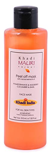 Khadi Peel Off Mask - Anti-Acne & Dead Skin Remover - Enriched With Pomegranate & Cucumber - 210 Ml
