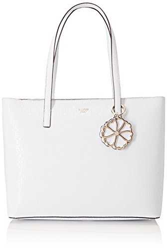 Guess Damen Bags Hobo Schultertasche, Mehrfarbig (White Multi), 13x28x41.5 - Tote Jayne