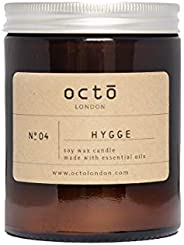 Hygge candle (Cinnamon, Orange, Clove) essential oil candle 180ml amber jar