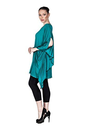 Weite Damen Tunika Casual, Designer Plus Size Mode auch in Übergröße - in verschiedenen Farben Hellgrün