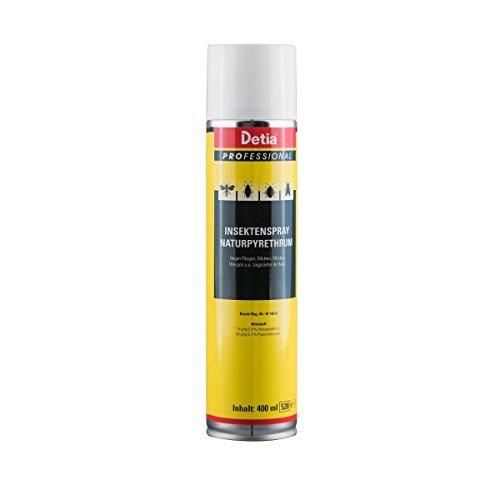 Detia - Insektenspray Naturphyretrum 400 ml - Spray gegen Wespen, Fliegen, Motten, Mücken und anderes Ungeziefer im Haus