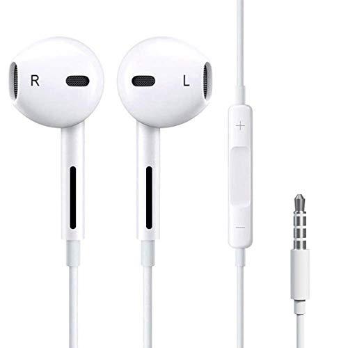 HighTune Kopfhörer/Ohrhörer mit Fernbedienung und Mikrofon kompatibel mit Samsung Huawei Nokia Xiaomi und Anderen Smartphones (Kopfhörer-fernbedienung)