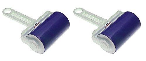 2 Stück all-around24® Kleiderrolle dauer Fusselroller Fusselrolle abwaschbar Tierhaarentferner ( Blau)