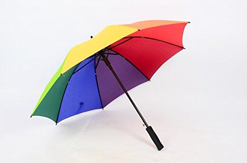 MAYUAN520 Super - Wind - Schirm _ Lange Mit 8 Knochen Schirm Reisen Schirm (Größe: 120 Cm - Durchmesser Mehrfarbigen Fakultativ),Regenbogen