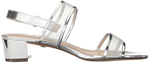Ganice Sandale Foil Slingback Metallic Synthetik Nina Spitze Offener Silver dXwzqd8Ix
