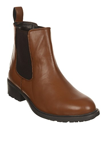 Bruno Manetti Women Tan Synthetic Leather Boots