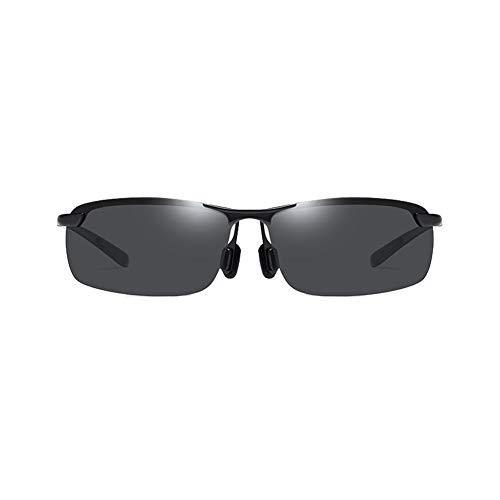 Li Kun Peng Sonnenbrille Halbrand Quadratisch Anti-Betäubung Metall Metall Tragbar Leicht Zu Waschen Leichter Sonnenschutz Anti-UV Polarisierte Sonnenbrille,A