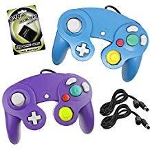 epad Controller mit 2Verlängerung Kabel 1,8m und 128MB Speicherkarte für Nintendo WII Gamecube Game Cube GC Konsole Blau/Lila ()