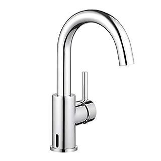 ubeegol 360° Drehbar Wasserhahn Bad Mischbatterie Waschtischarmatur Waschbeckenarmatur Badarmatur Waschbecken Armatur  (ohne Zugstange-Ablaufgarnitur)