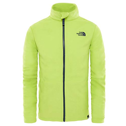 The North Face Y Snow Quest Fz R Lime Green XS (Kids) North Face Kids Outerwear