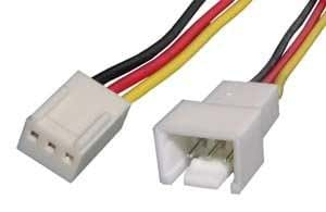 G câble d'alimentation interne pour pC rallonge de câble molex 3 pôles st. 1 x prise jack fiche/prise 3 broches 0,3 m