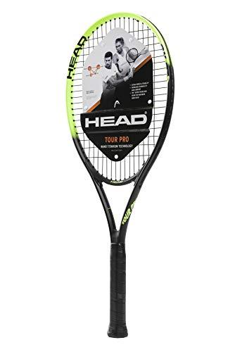 HEAD Tennisschläger Tour Pro, vorbesaiteter Kopf, Light Balance, 68,6 cm (27 Zoll) - Tennisschläger Dunlop Dämpfer