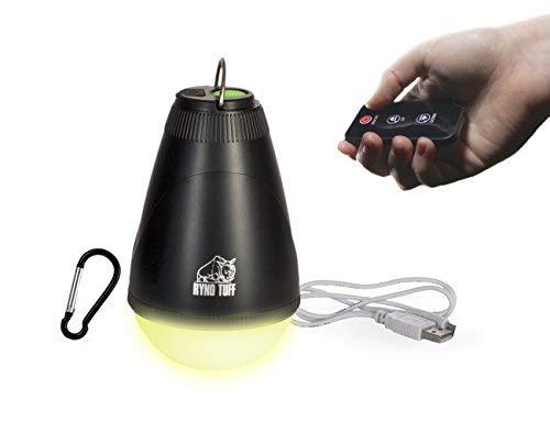 Ryno Tuff Wiederaufladbare LED-Taschenlampe mit Fernbedienung mit Mückenschutz für Zelte, Camping oder Rucksack Gelb -