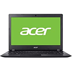 "Acer Aspire 1 | A114-32-C1SS - Ordenador portátil de 14"" HD (Intel Celeron Processor N4000, 4GB de RAM, eMMC 64GB, Intel UHD Graphics 600, Windows 10 Home in S Mode) Negro - Teclado QWERY Español"