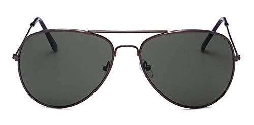 WSKPE Sonnenbrille Aviator Sonnenbrille Brillengestell Piloten Sonnenbrille Frauen Männer Damen Brille Dunkel Grüne Linse