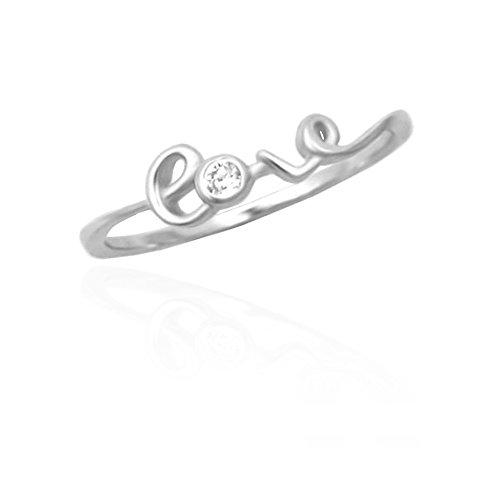 SOFIA MILANI Damen-Ring Love Schrift Liebe 925 Silber 10134 - (60 (19.1))