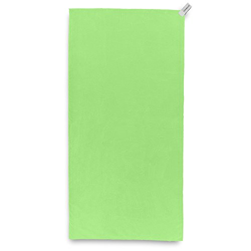 Lumaland Mikrofaser Reisehandtuch Extra leicht und kompakt verschiedene Farben und Größen Grün 90x180cm