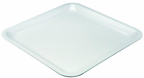 Zak Designs 0016-1575E Assiette carrée 26cm Blanc Seaside mélamine
