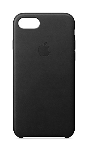 Apple Leder Case (iPhone 8 / iPhone 7) - Schwarz