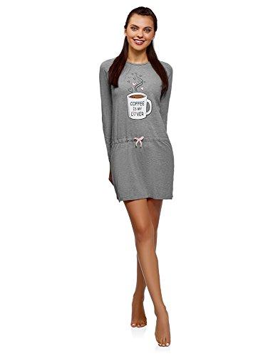 Oodji Ultra Mujer Vestido Estar Casa Cintura Elástica