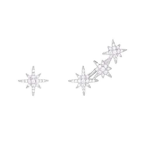 925 Silber Tanzen Roboter Asymmetrie Ohrringe Suitble Für Frauen Und Mädchen Für Ohren Chic Schmuck Hübsche Mädchen Ohrringe Valentinstag Geburtstagsgeschenk (Farbe : Weiß, Größe : Free Style)