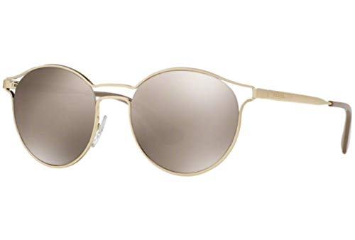 Prada Damen 0PR62SS ZVN1C0 53 Sonnenbrille, Pale Light Brown Gold