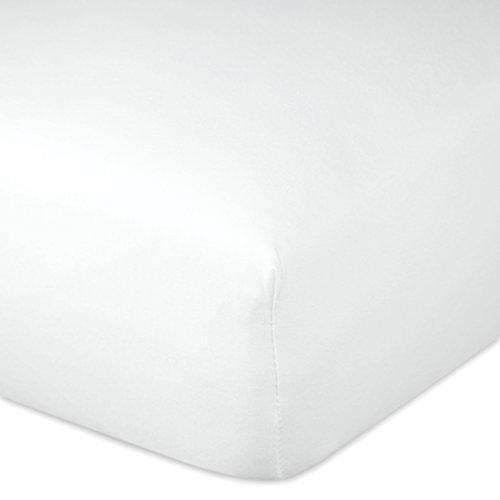 Zollner Spannbettlaken aus Baumwoll-Polyester-Gemisch, 100×200 cm, 160×200 cm oder 200×200 cm, Farbe Weiß, 00000071