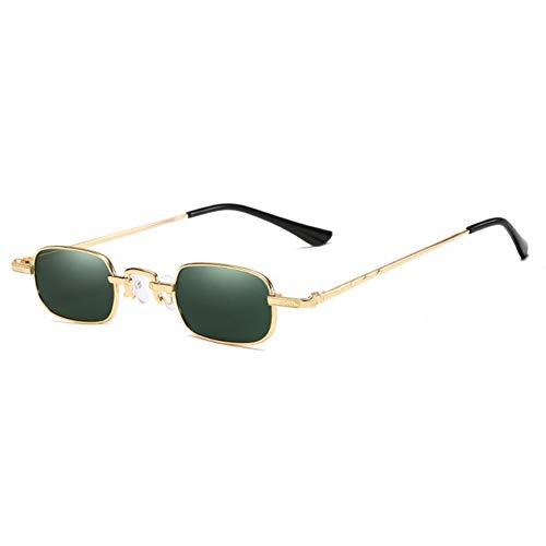 Wenkang Fashion Rectangle Sunglasses Vintage Small Metal Frame Sun Glasses Red Yellow Sunglass Shades,4